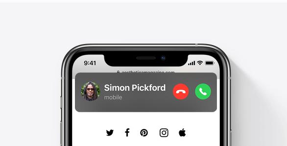 واجهة استقبال المكالمات في IOS 14